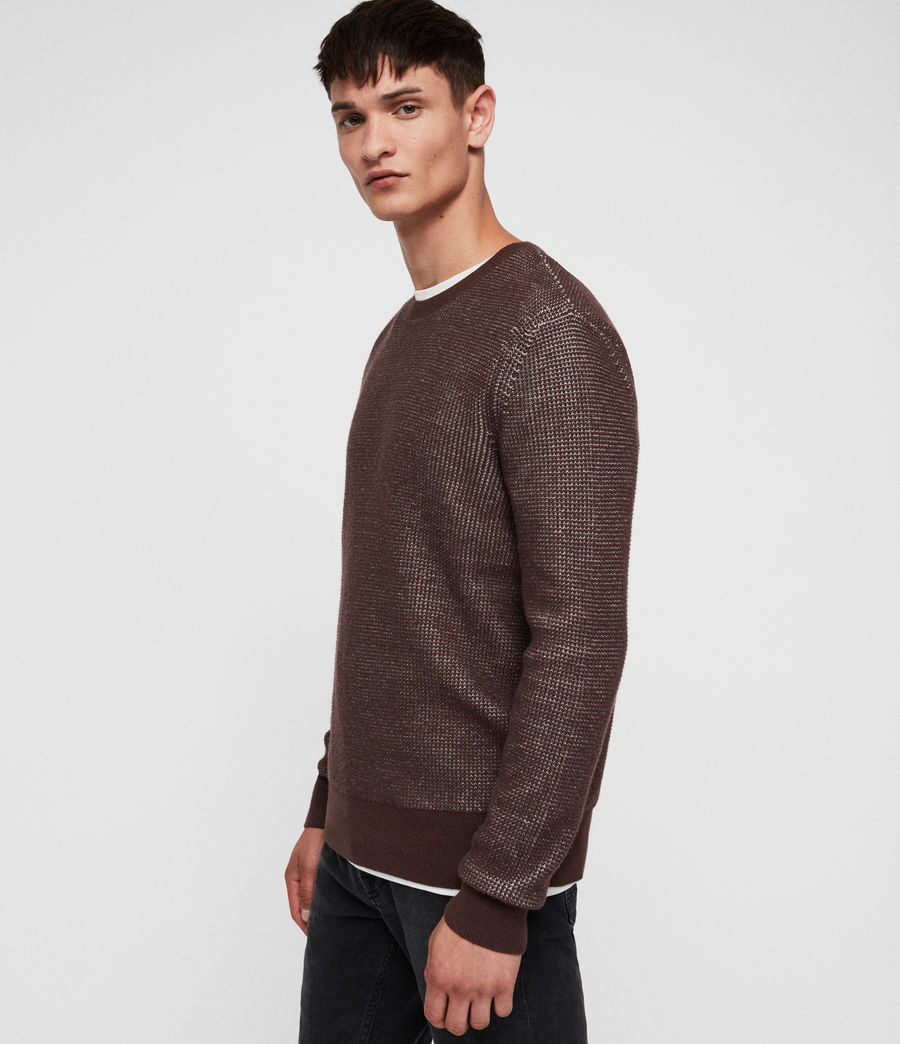 Men's Natan Crew Jumper (oxblood_red) - Image 1