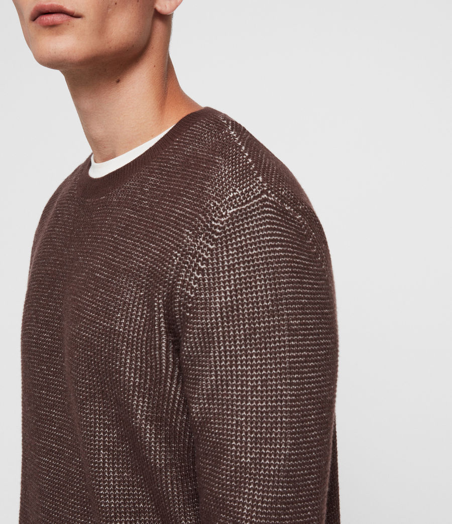 Men's Natan Crew Jumper (oxblood_red) - Image 2