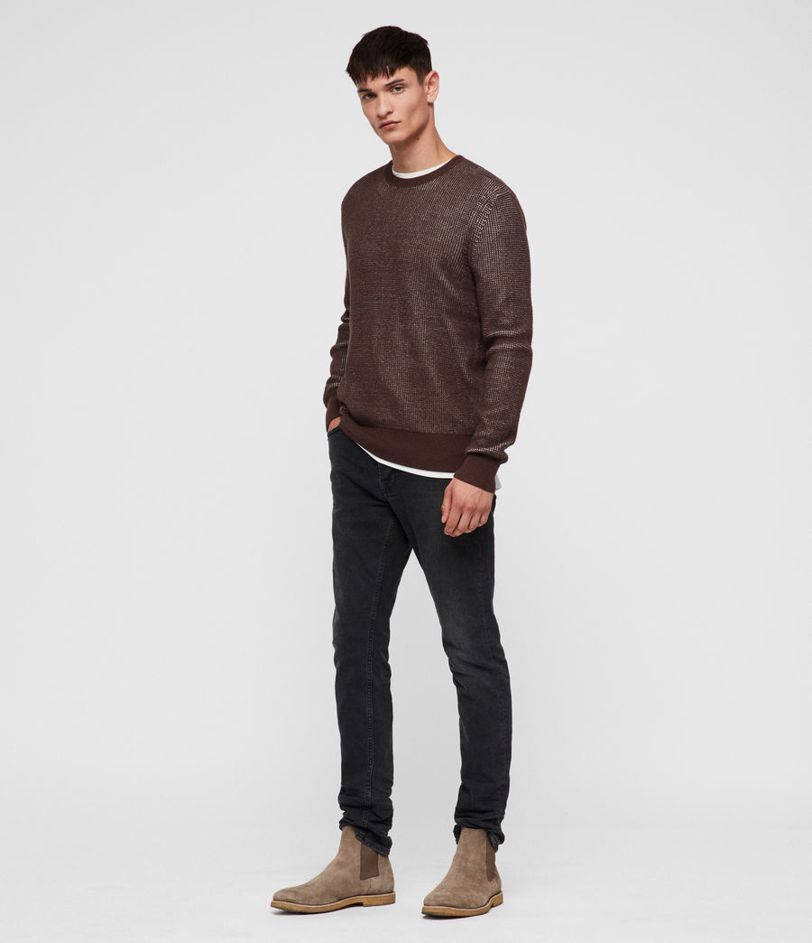 Men's Natan Crew Jumper (oxblood_red) - Image 3