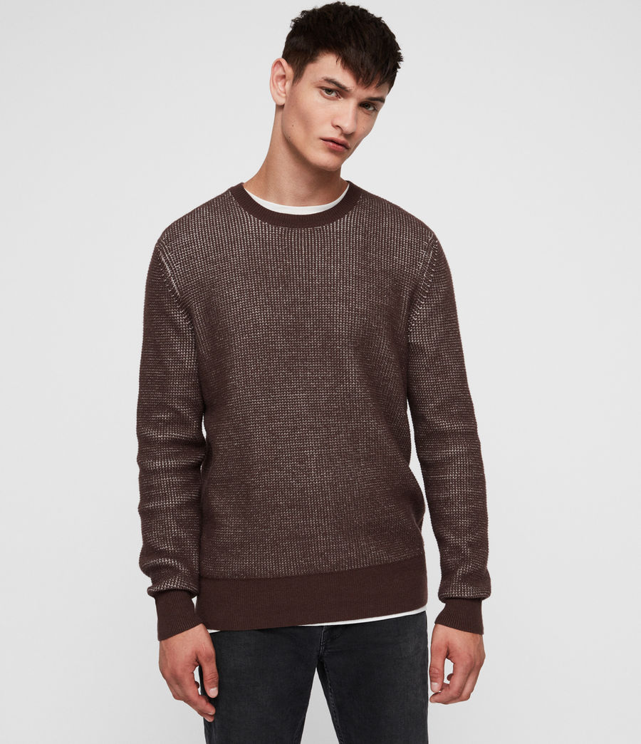 Men's Natan Crew Jumper (oxblood_red) - Image 4