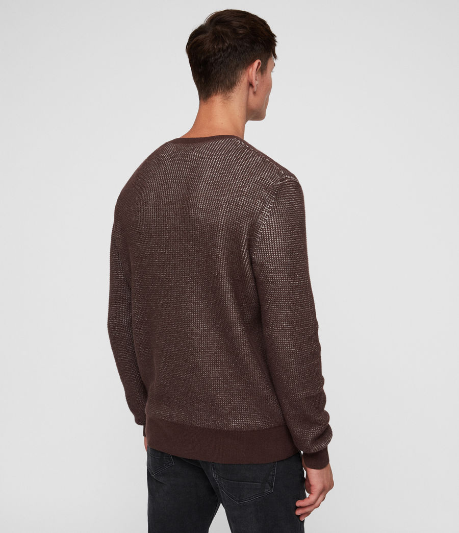 Men's Natan Crew Jumper (oxblood_red) - Image 5