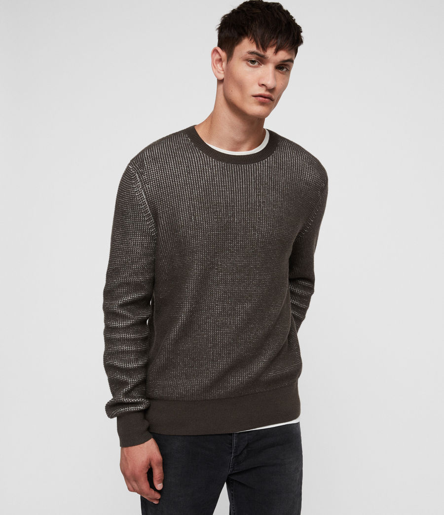 Men's Natan Crew Jumper (sandalwood_brown) - Image 1