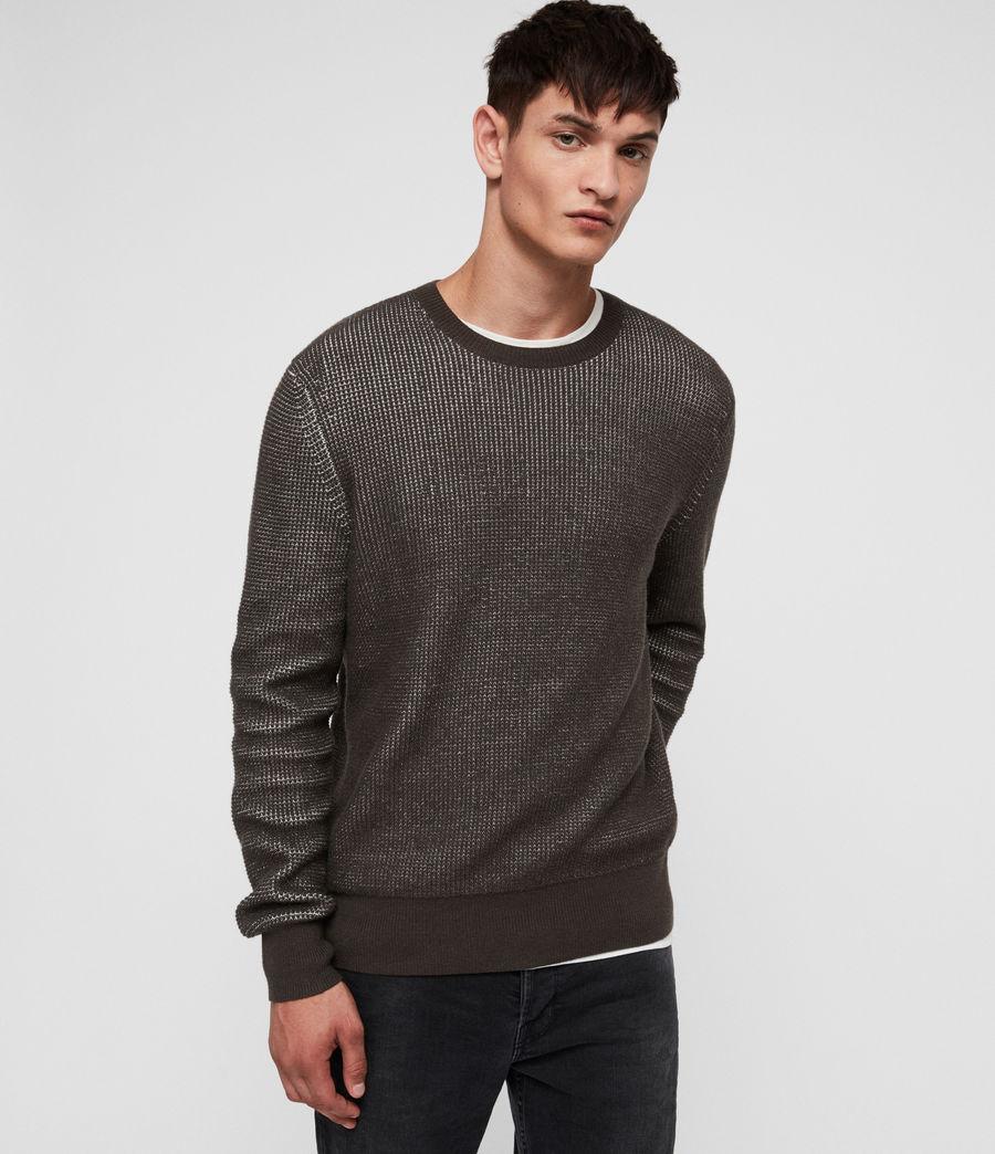 Hombre Natan Crew Sweater (sandalwood_brown) - Image 1