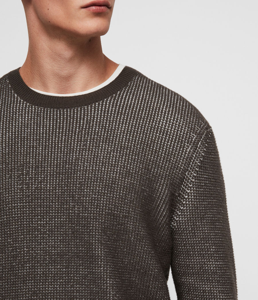Men's Natan Crew Jumper (sandalwood_brown) - Image 2