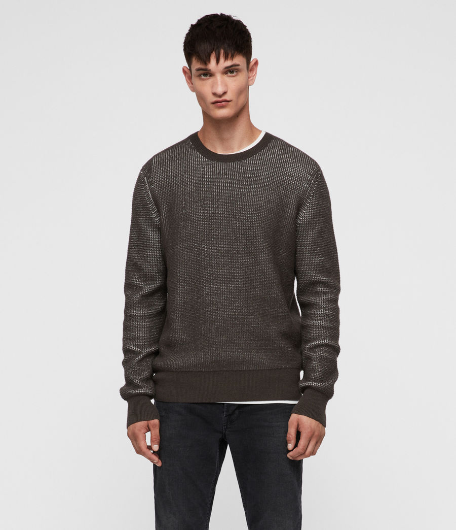 Men's Natan Crew Jumper (sandalwood_brown) - Image 3