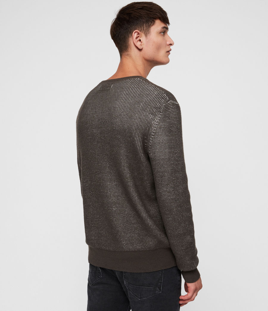 Men's Natan Crew Jumper (sandalwood_brown) - Image 4