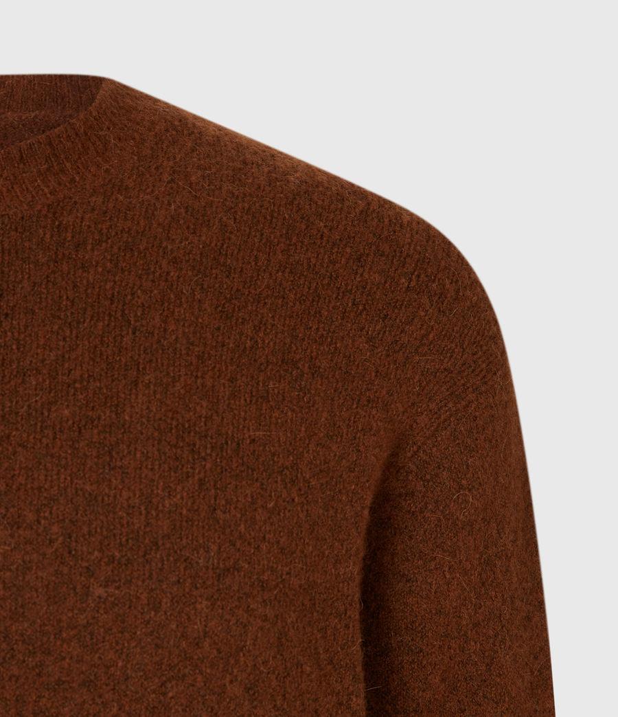 Men's Varley Crew Jumper (cinnamon_brown) - Image 4