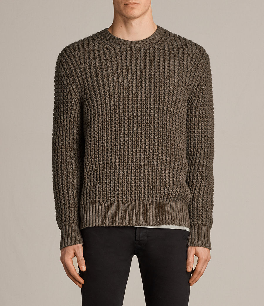 Men's Ren Crew Jumper (battle_brown) - Image 1