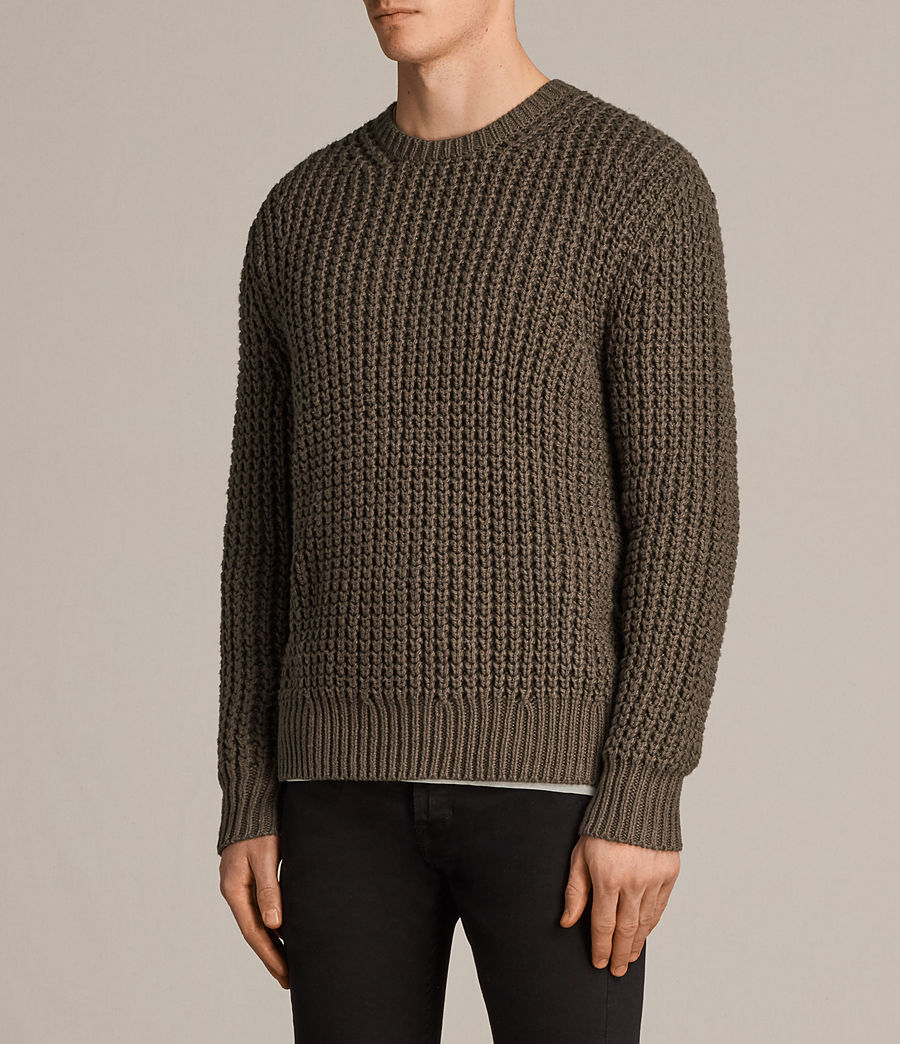 Men's Ren Crew Jumper (battle_brown) - Image 3