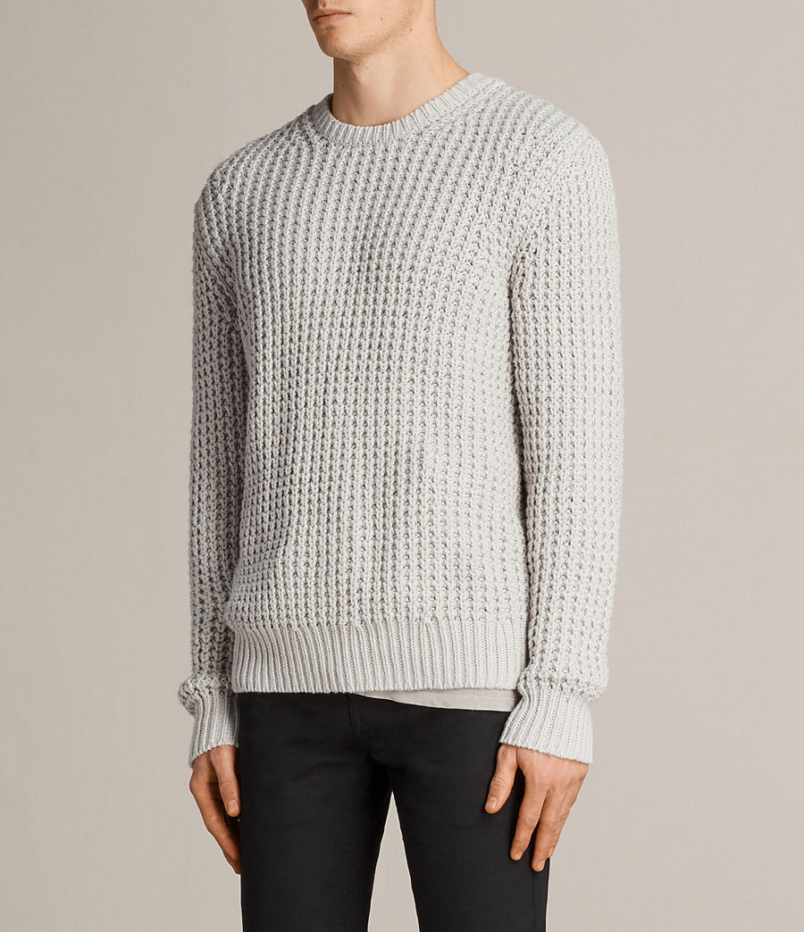 Men's Ren Crew Jumper (sodium_grey) - Image 3