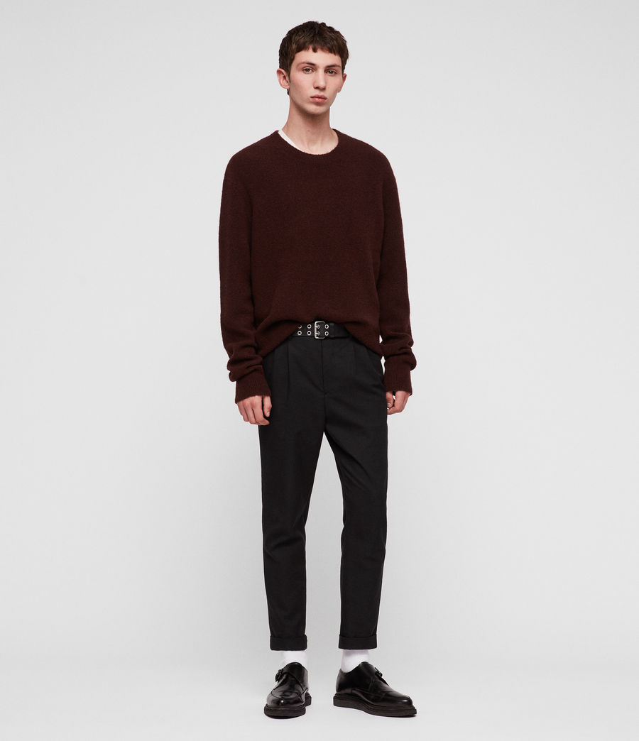 Men's Hawk Crew Jumper (dark_rust_red) - Image 1