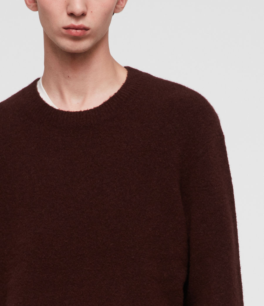 Men's Hawk Crew Jumper (dark_rust_red) - Image 2