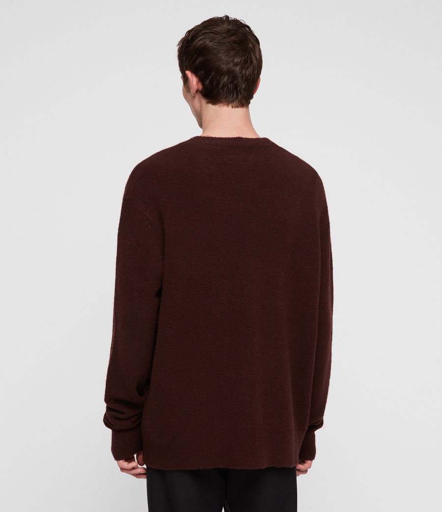 Men's Hawk Crew Jumper (dark_rust_red) - Image 3