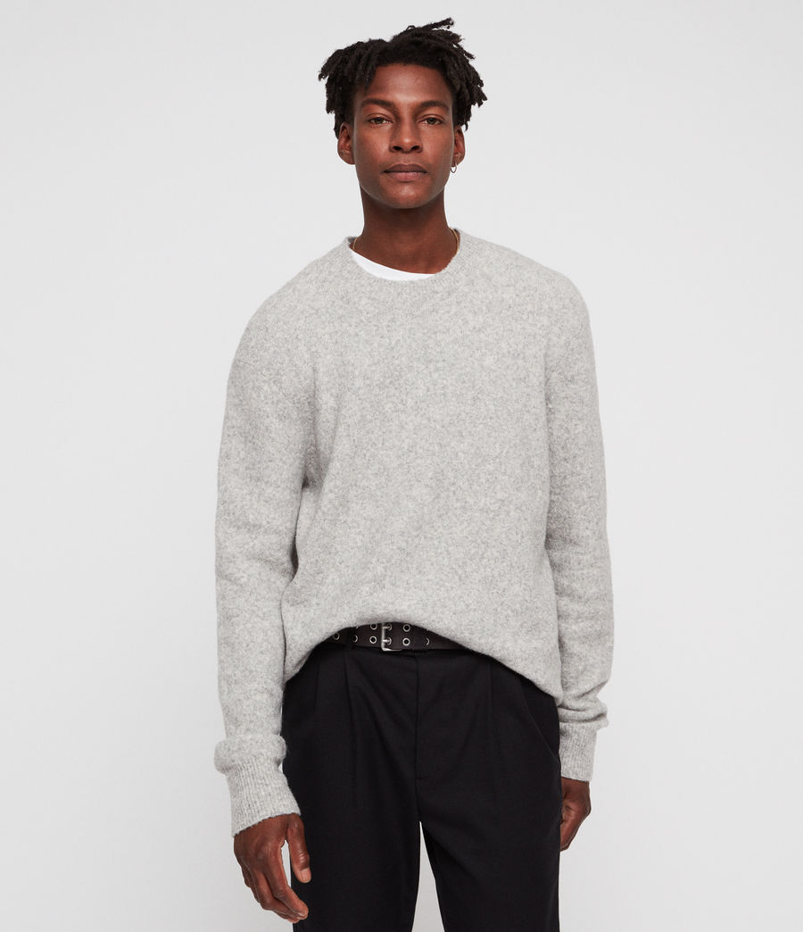 Mens Hawk Crew (light_grey_marl) - Image 1