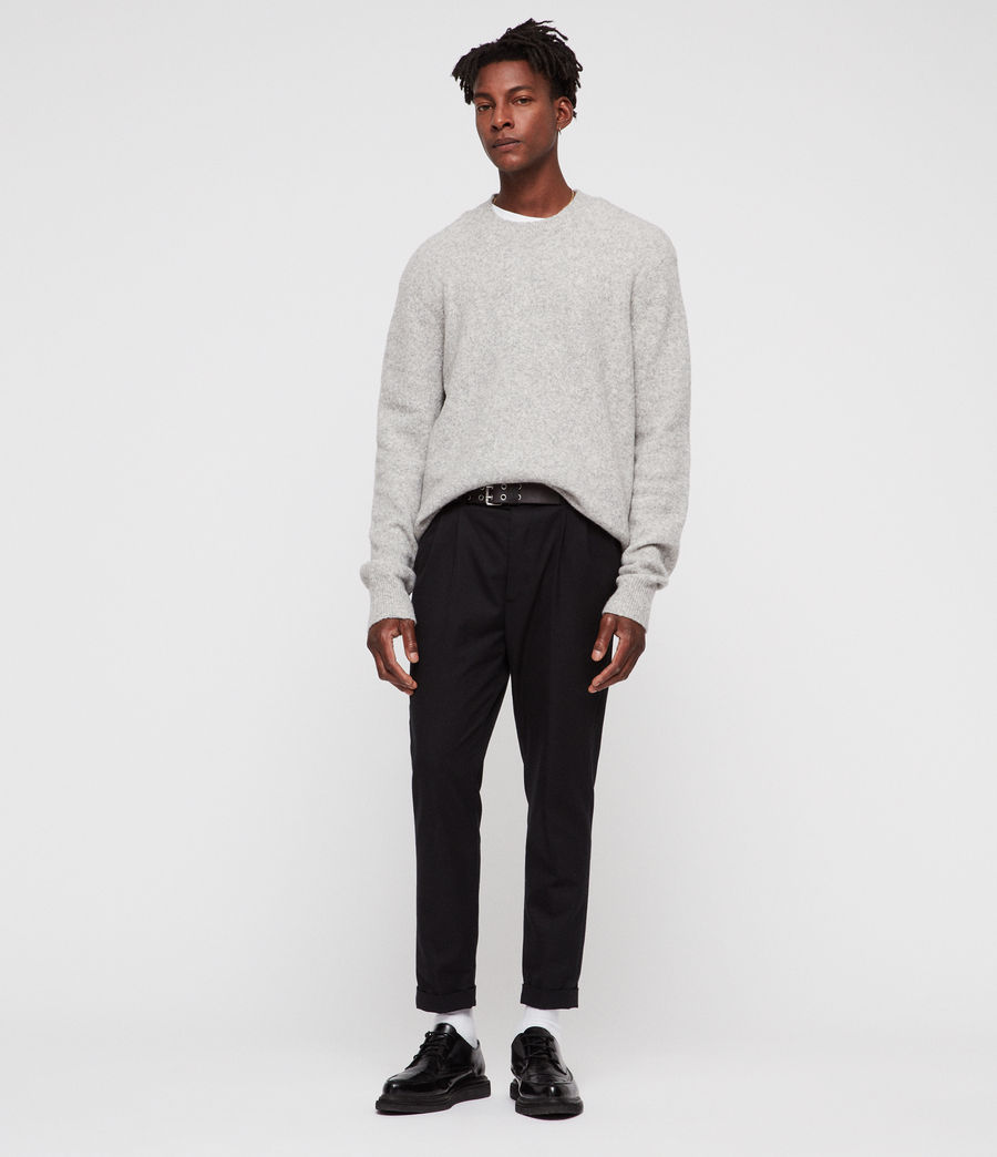 Men's Hawk Crew Jumper (light_grey_marl) - Image 4