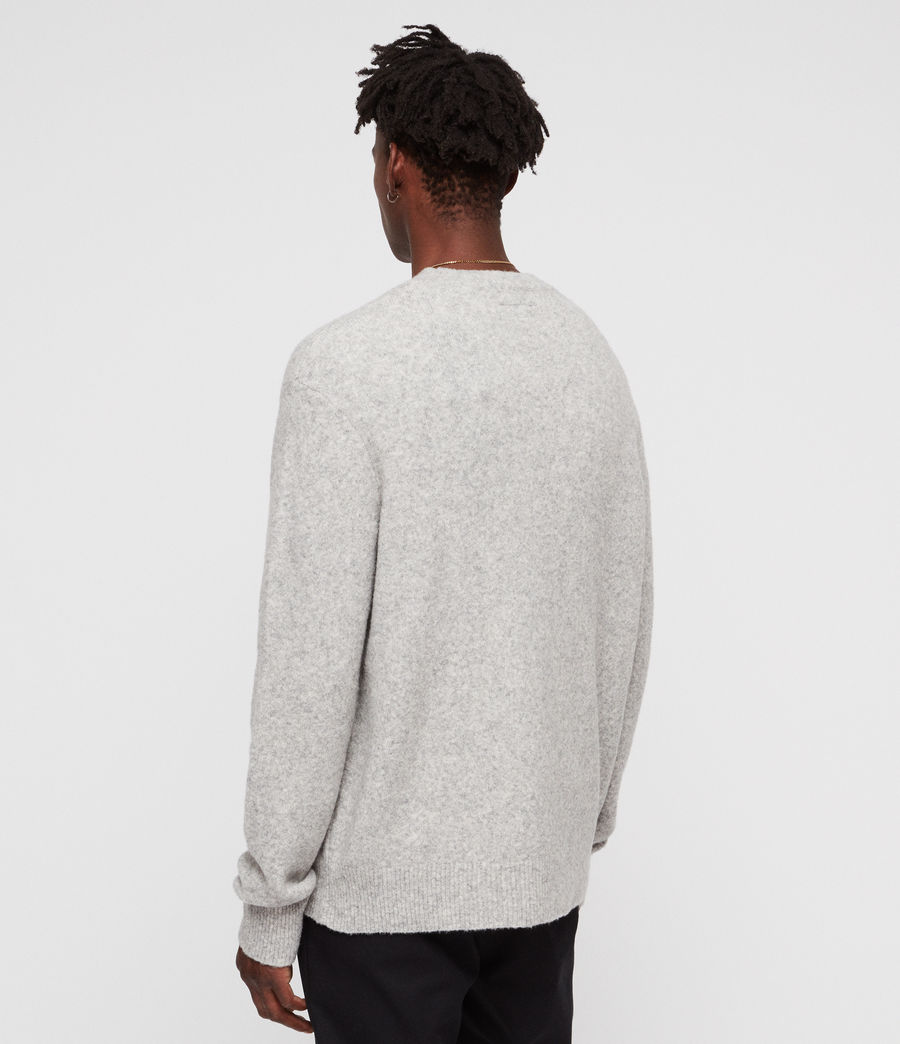 Mens Hawk Crew (light_grey_marl) - Image 5