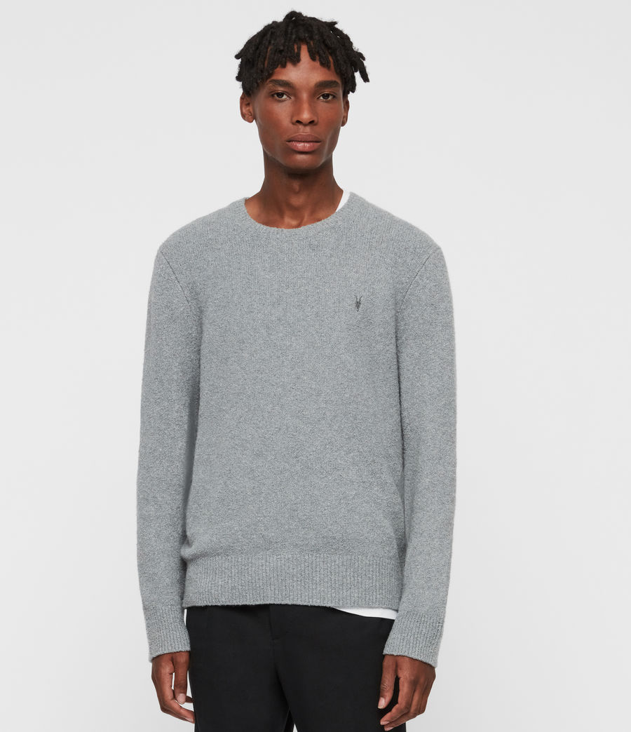 Mens Tolnar Crew Sweater (grey_marl) - Image 1