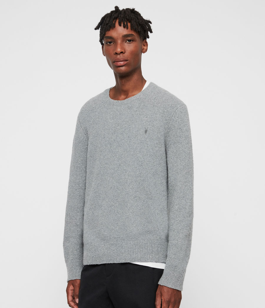 Mens Tolnar Crew Sweater (grey_marl) - Image 4