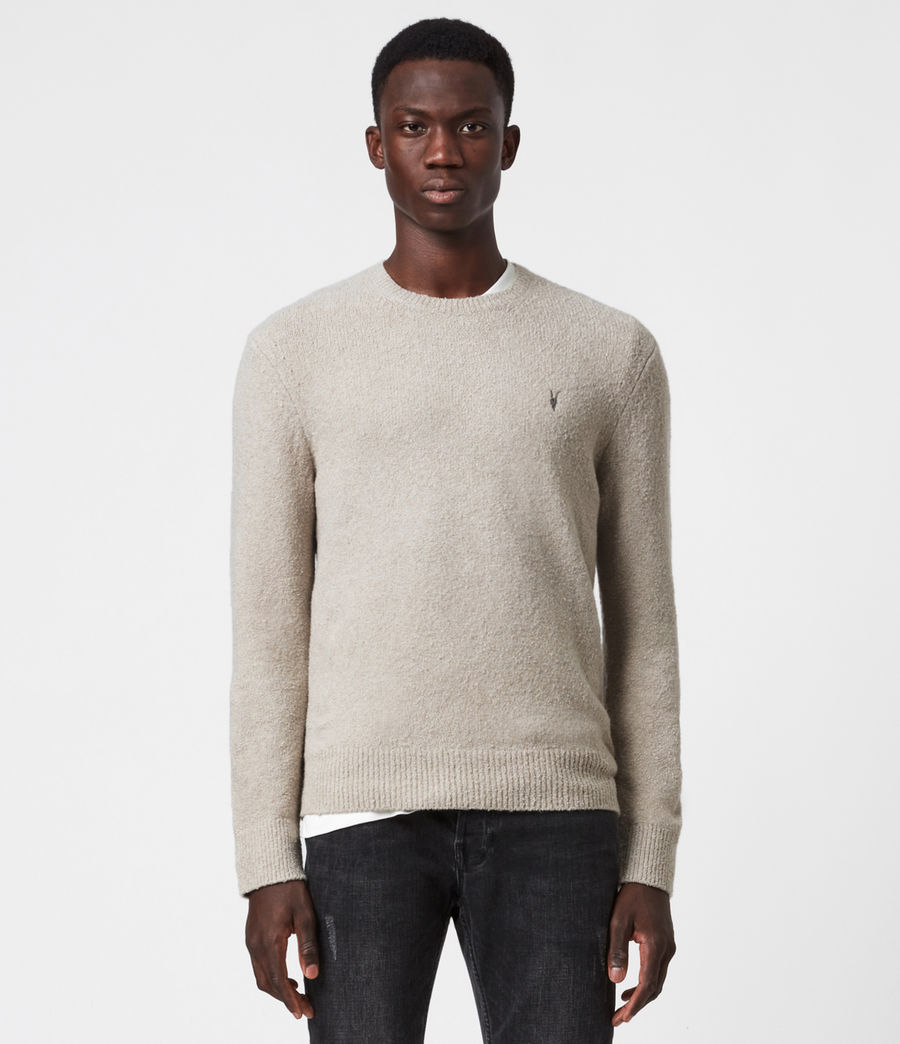 Mens Tolnar Crew Sweater (taupe_marl) - Image 1