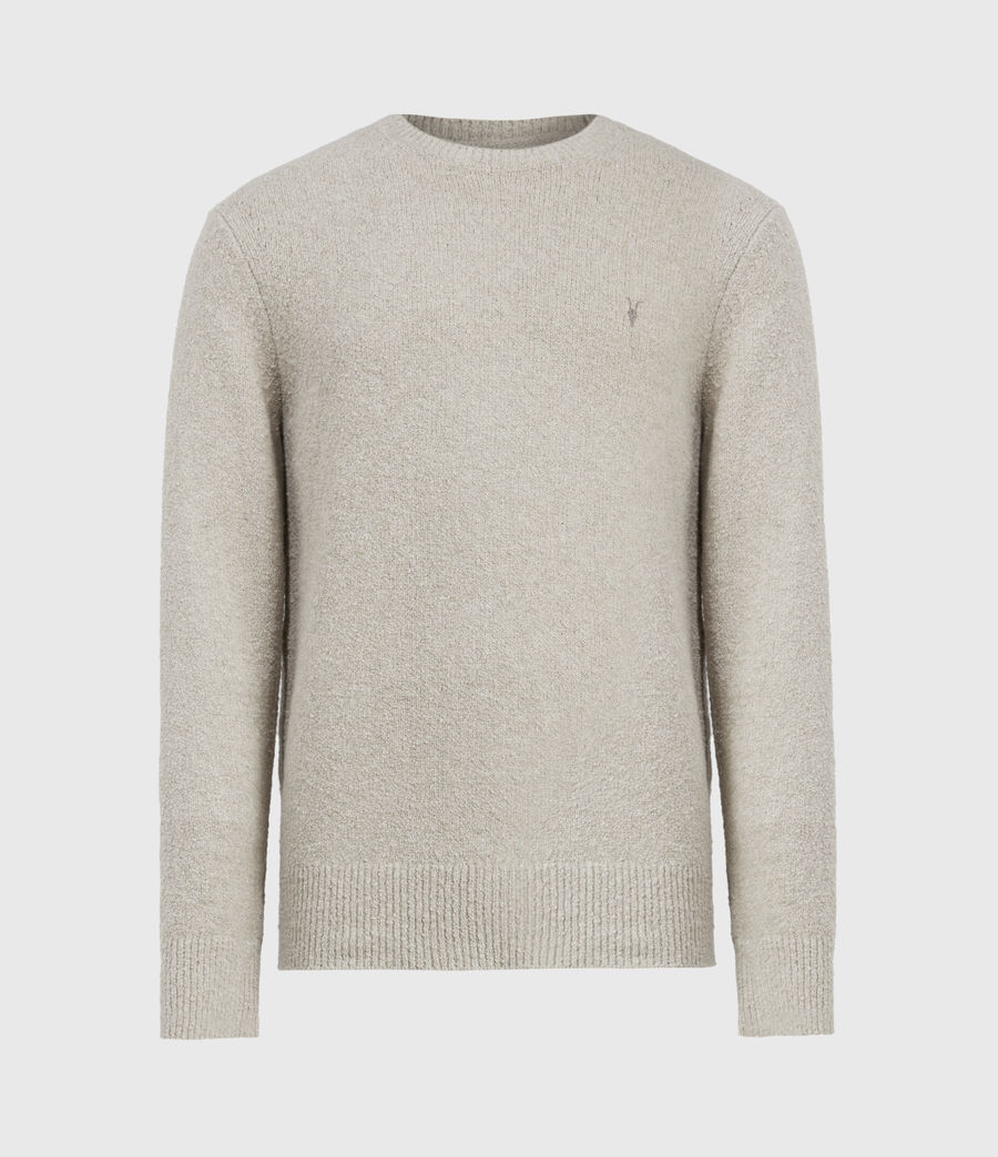Mens Tolnar Crew Sweater (taupe_marl) - Image 2