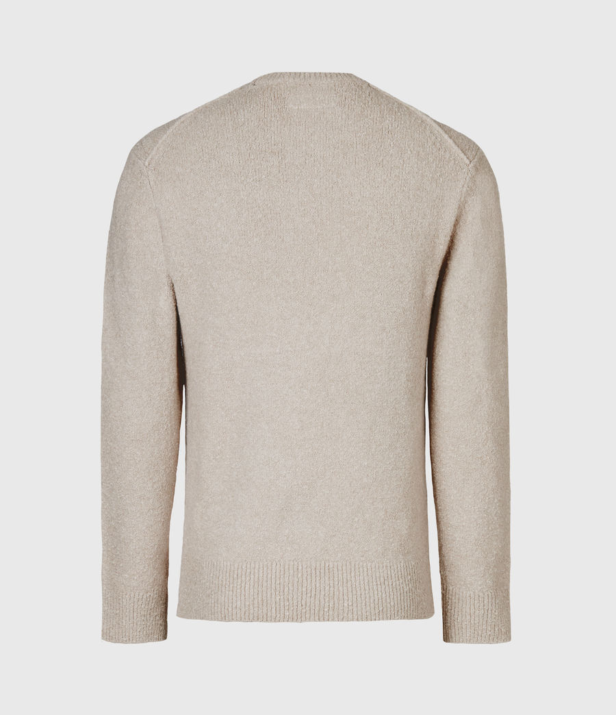 Mens Tolnar Crew Sweater (taupe_marl) - Image 3