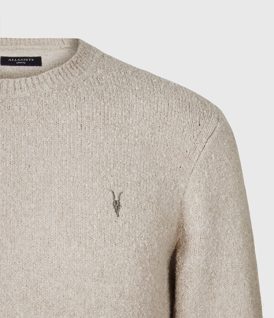 Mens Tolnar Crew Sweater (taupe_marl) - Image 4