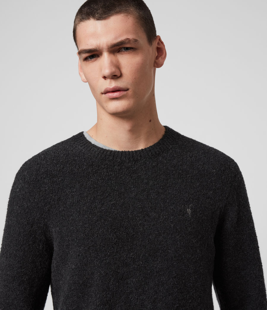 Mens Tolnar Crew Sweater (grey_marl) - Image 2