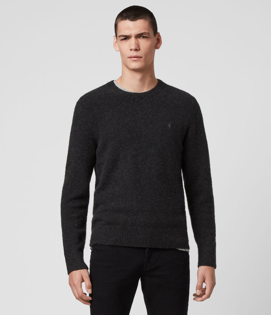 Men's Tolnar Crew Jumper (light_grey_marl) - Image 3