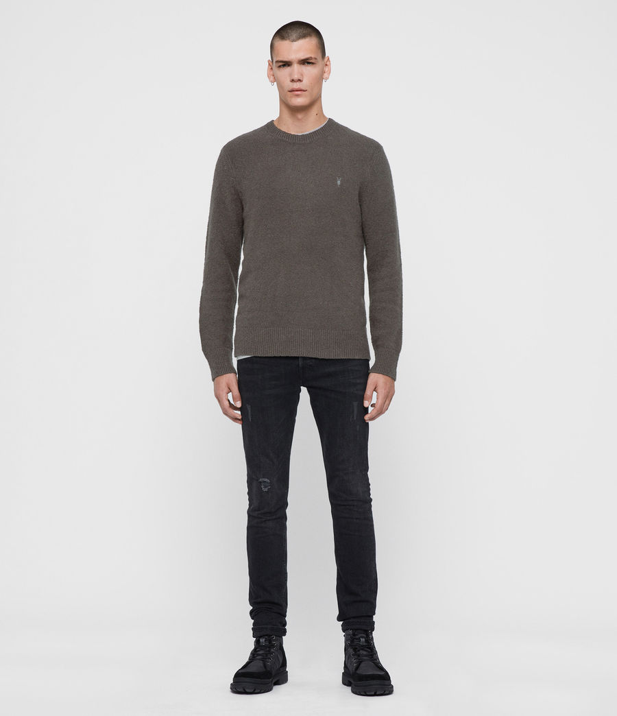 Mens Tolnar Crew Sweater (grey_marl) - Image 3