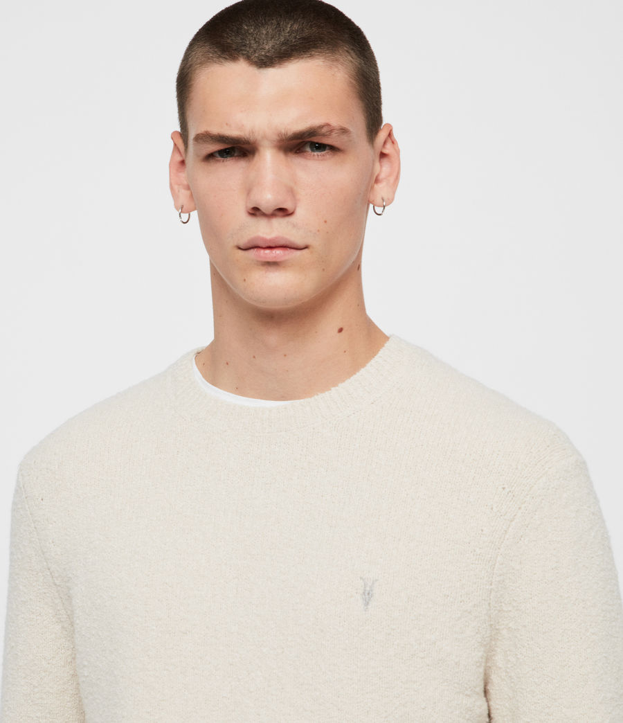 Mens Tolnar Crew Sweater (ecru_white) - Image 2
