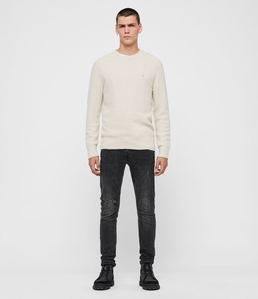Mens Tolnar Crew Sweater (ecru_white) - Image 3