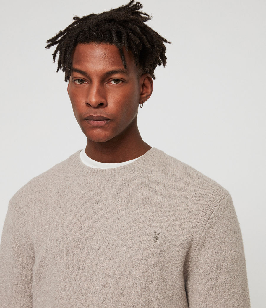 Men's Tolnar Crew Jumper (pewter_grey_marl) - Image 2