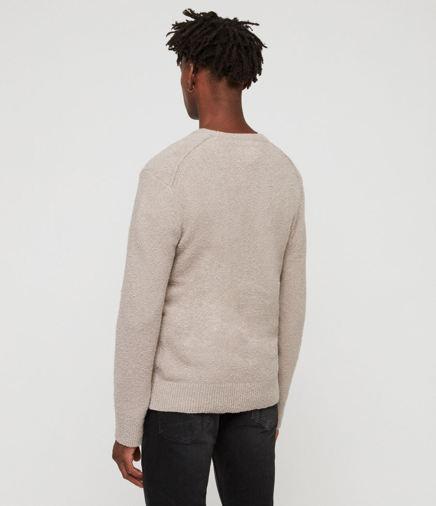 Mens Tolnar Crew Sweater (pewter_grey_marl) - Image 4