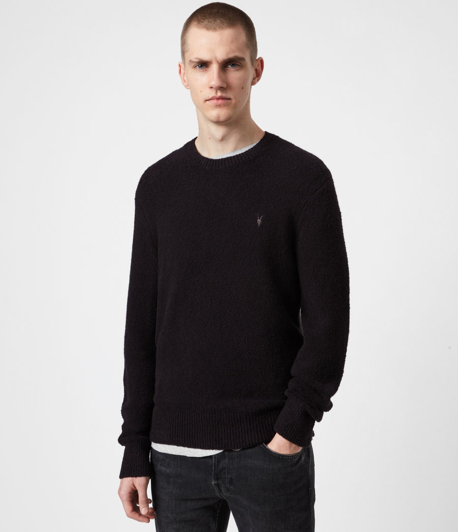 Mens Tolnar Crew Sweater (pitch_black) - Image 1
