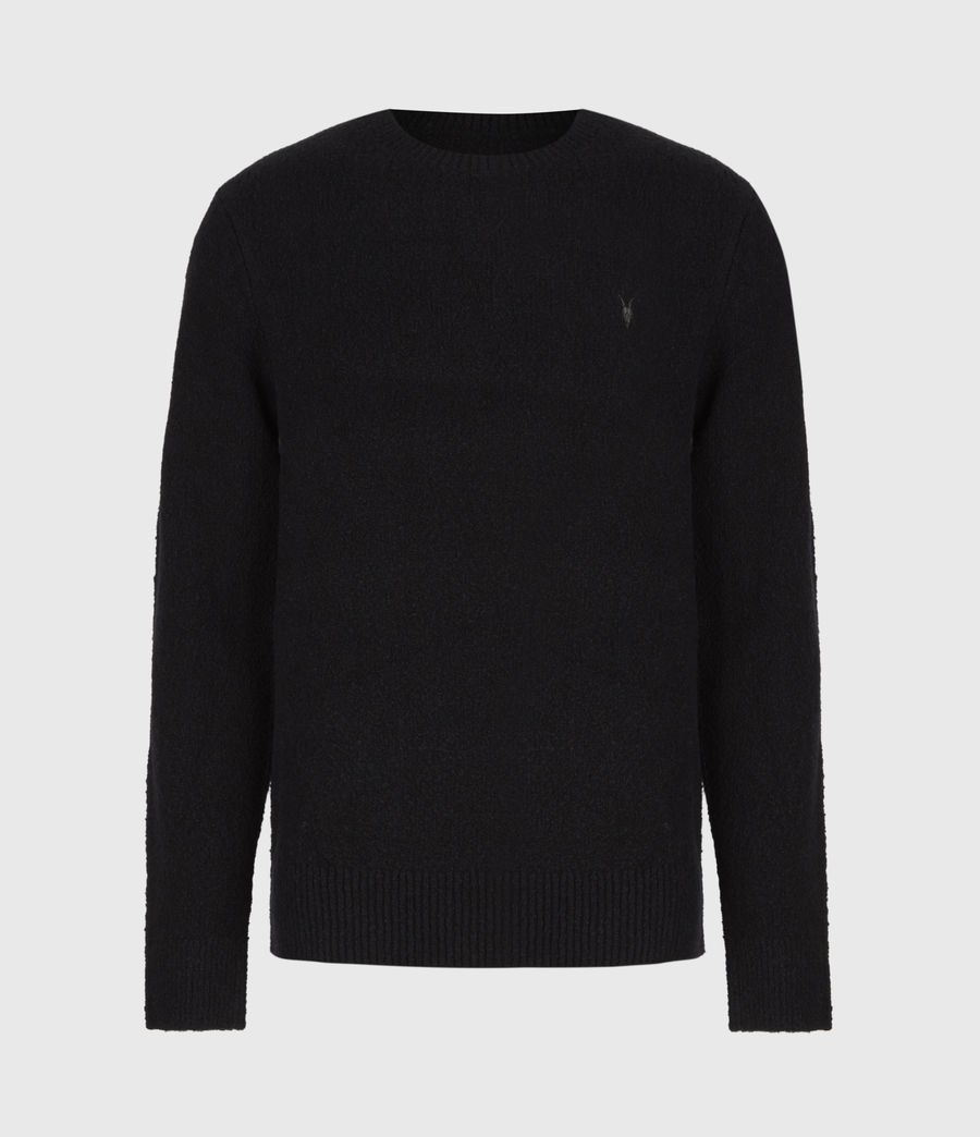 Mens Tolnar Crew Sweater (pitch_black) - Image 2