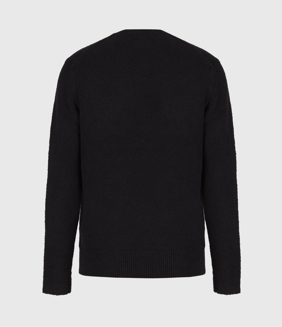 Mens Tolnar Crew Sweater (pitch_black) - Image 3