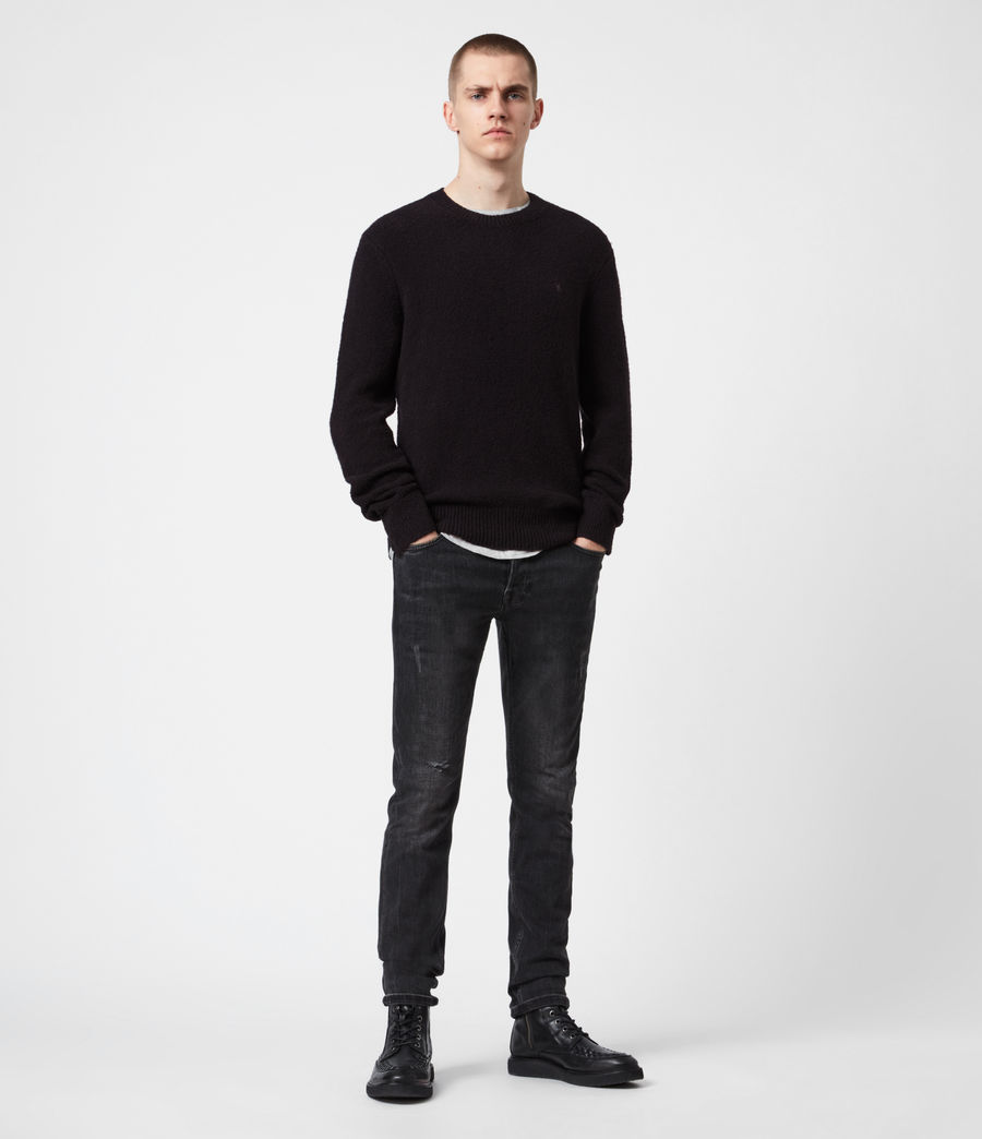 Mens Tolnar Crew Sweater (pitch_black) - Image 4
