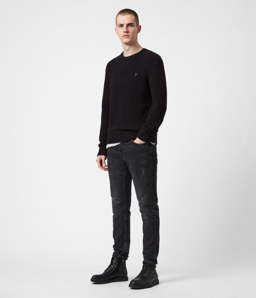 Men's Tolnar Crew Jumper (pitch_black) - Image 6