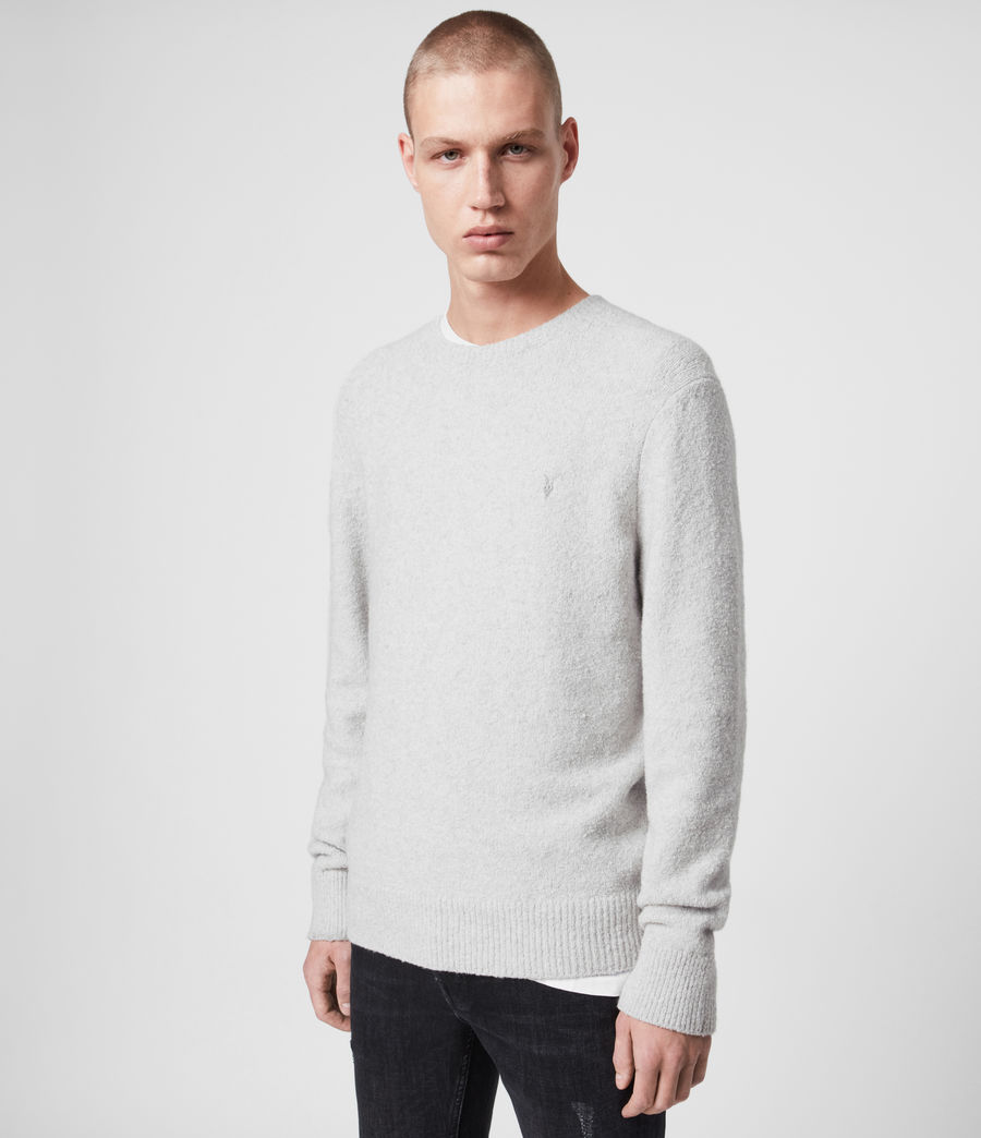 Hombre Tolnar Crew Sweater (light_grey_marl) - Image 1