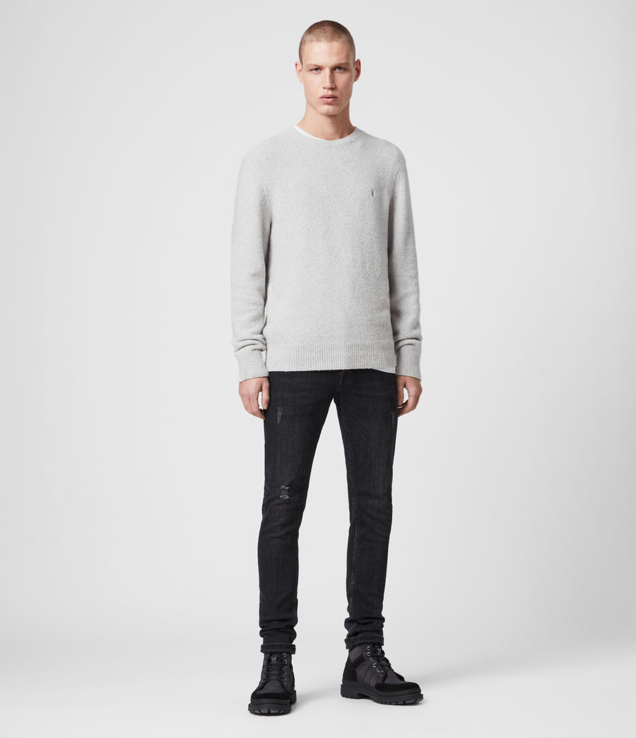 Hombre Tolnar Crew Sweater (light_grey_marl) - Image 3