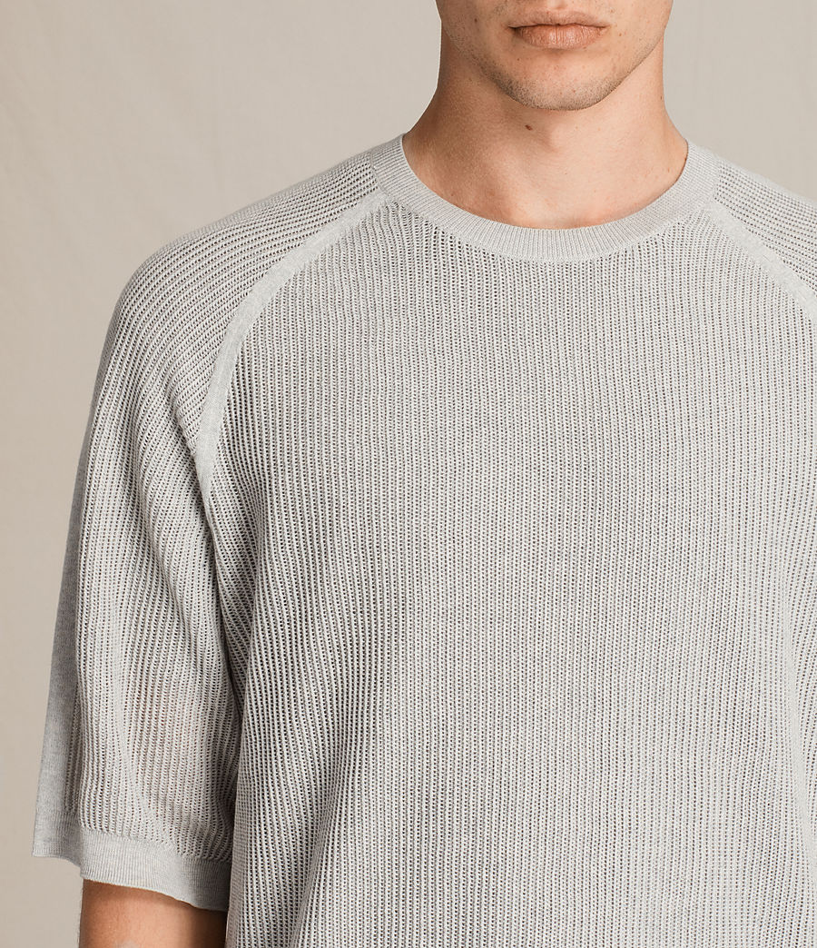 Men's Terrum Short Sleeve Crew Jumper (light_grey_marl) - Image 2