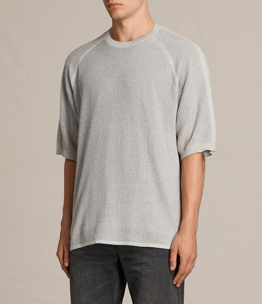 Men's Terrum Short Sleeve Crew Jumper (light_grey_marl) - Image 3