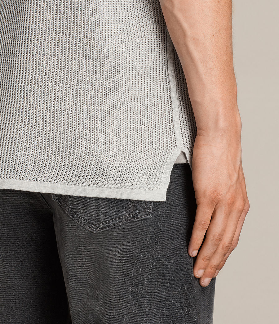 Men's Terrum Short Sleeve Crew Jumper (light_grey_marl) - Image 4