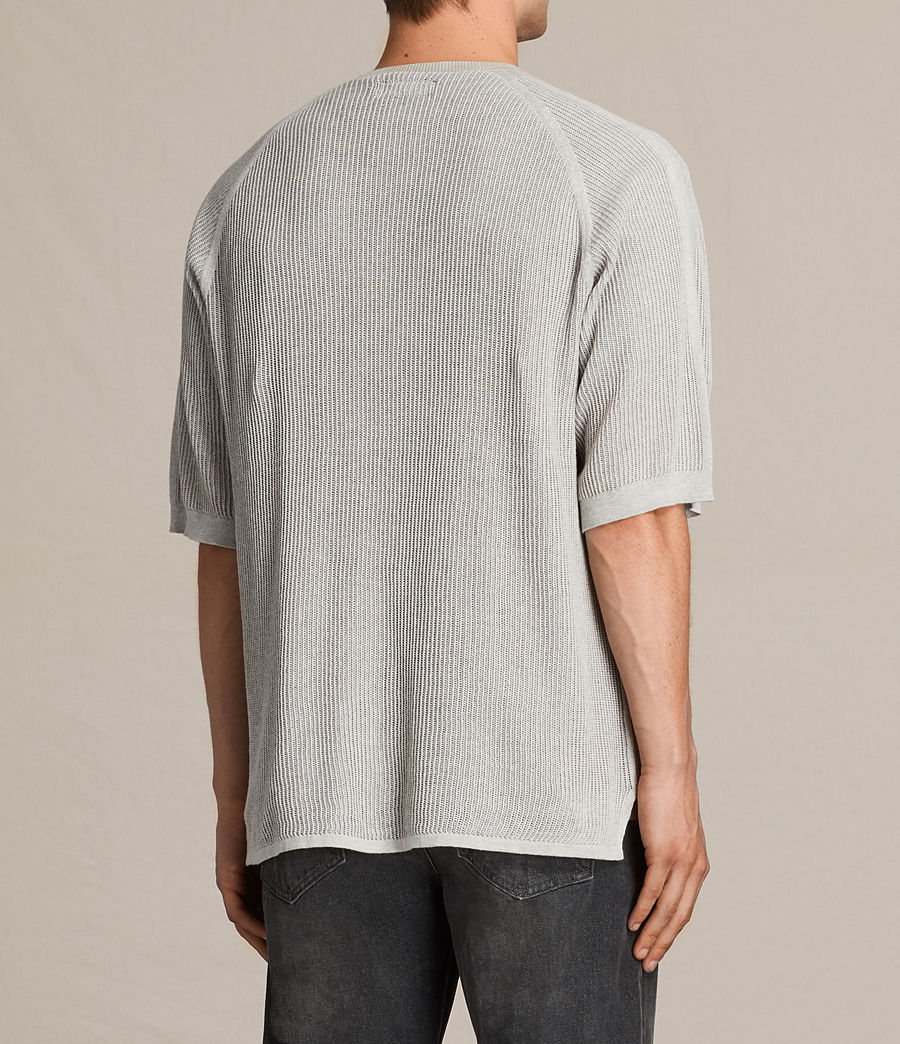 Men's Terrum Short Sleeve Crew Jumper (light_grey_marl) - Image 5