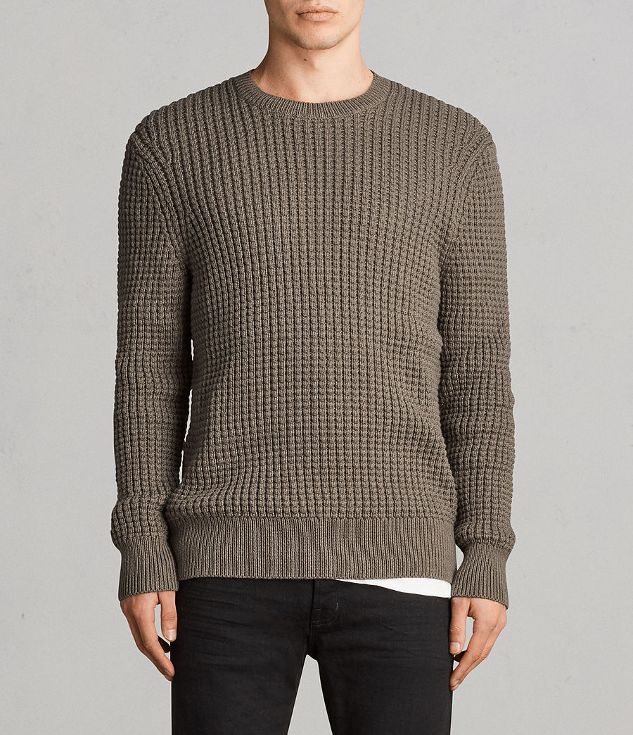 Mens Kee Crew Sweater (olive_green) - Image 1