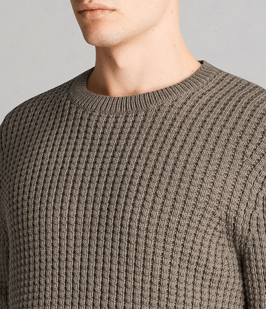 Mens Kee Crew Sweater (Olive Green) - Image 2
