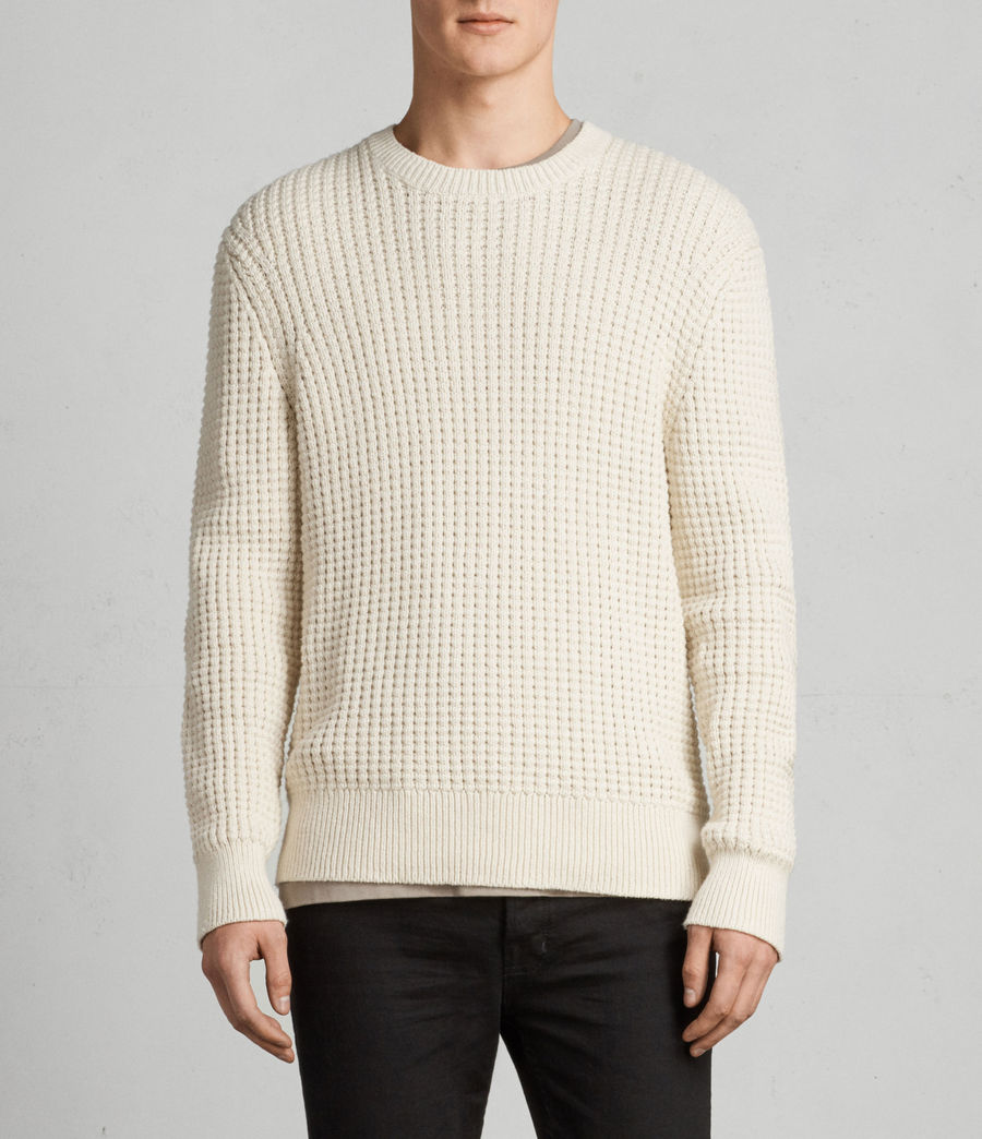 Men's Kee Crew Jumper (ECRU WHITE) - Image 1