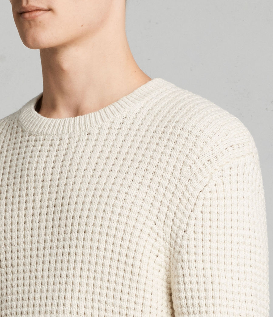 Men's Kee Crew Jumper (ECRU WHITE) - Image 2