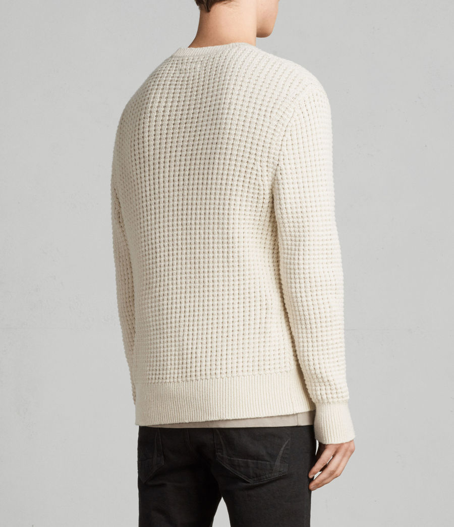Men's Kee Crew Jumper (ECRU WHITE) - Image 4