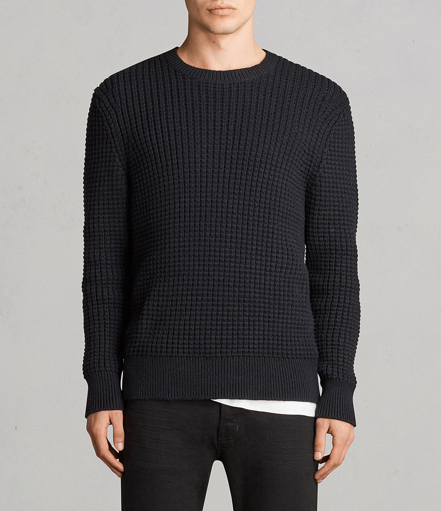 Men's Kee Crew Jumper (Black) - Image 1